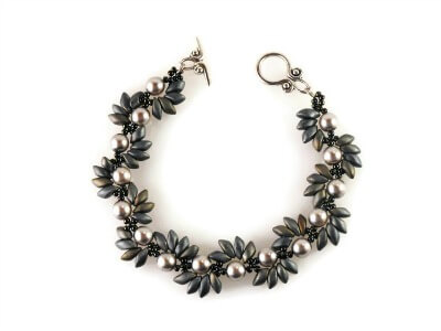 Spiky Spiral Bracelet by The Bead Club Lounge