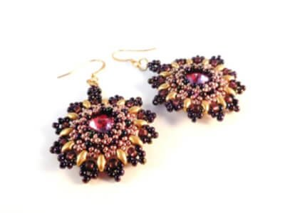 Sunflower Earrings by The Bead Club Lounge