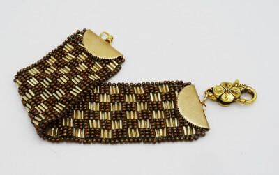 Suzanne Brind'Amour 3-drop Peyote Bracelet